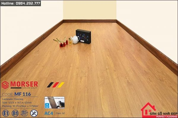 sàn gỗ morser 12ly MF116