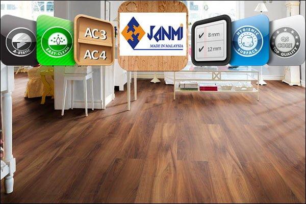 Sàn gỗ Janmi 12ly bản nhỏ